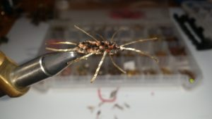 Pats Rubber leg stone fly nymph